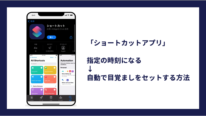 アラームを自動セットする方法【iphoneのショートカットアプリは最強です】